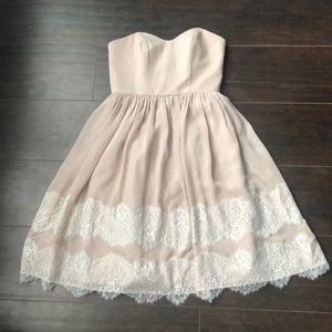 David's Bridal | Lilac pink rose chiffon dress